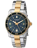 Victorinox Unisex 241612 Maverick Analog Display Swiss Quartz Two Tone Watch