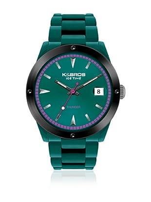 K&BROS Reloj 9556 (Verde Agua)