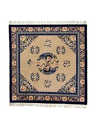 L'Eden del Tappeto Teppich Pechino beige/blau 214t x t214 cm