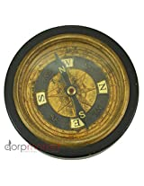 Black Pocket Compass Functional - Black Wood Body Decore Gift Antique Replica Vintage Collectible