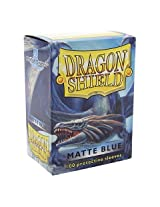 Dragon Shield Matte Blue 100 Deck Protective Sleeves in Box, Standard Size for Magic he Gathering (66x91mm)