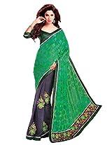 Gopalclothdesigner Brasso Resham Saree (iwgy126a_Green Grey)