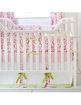 Bloom in Pink 3 Piece Crib Bedding Set