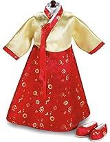 Korean Hanbok Dress & Shoes - Fits 18