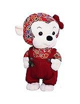 Plush Lovely Cartoon Monkey Pillow Toy Girlfriend Kid Birthday Doll Gift