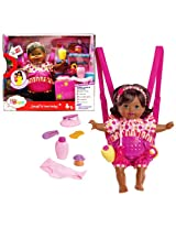 Fisher Price Year 2013 Little Mommy 13 Inch Tall Interactive Doll - LAUGH and LOVE BABY (African Ame