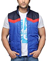 Yepme Men's Polyester Jacket (YPMJACKT0047_Blue_XX-Large)