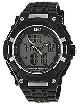 Q&Q Regular Analog-Digital White Dial Men's Watch - GW80J003Y