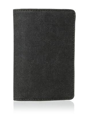 Bosca Men's Field Deluxe Passport Case (Gray/Dark Brown)