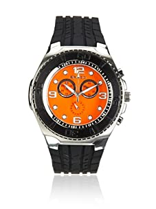 Breed Men's Rogue Black/Orange Polyurethane Watch