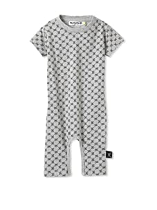 NUNUNU Baby Checkered Play Suit (Heather Grey)