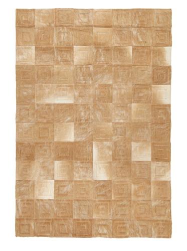 Hide Rug Light Brown Patchwork, 4' x 6'