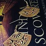 Bronze gold fan shaped carved earrings