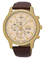 Seiko Chronograph Beige Dial Men's Watch - SNDG70P1
