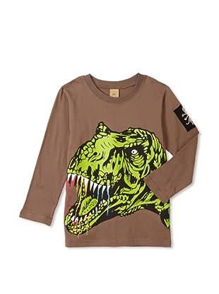 Monster Republic Boy's Dino Tee (Brown)