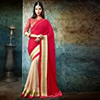 Club Art Decor Designer Red Saree on a PURE NATURAL FABRICS by A kumar Art Decor31005