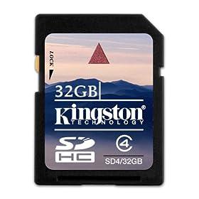 【クリックで詳細表示】Kingston 32GB SDHC Class4 SD4/32GB