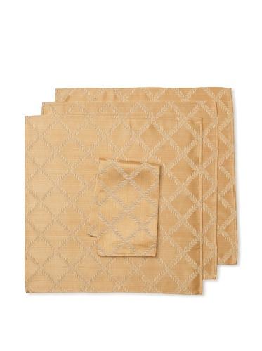 Lenox Set of 4 Laurel Leaf Napkins (Gold)