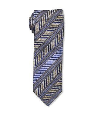 Missoni Men's Diagonal Stripes Tie, Blue/Beige