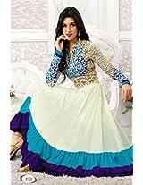 New White Heavy Long Length Designer Anarkali Suit