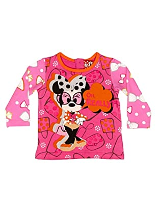 Disney Camiseta Manga Larga Niña Minnie (Magenta)