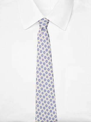 Battistoni Men's Sun Print Tie, Blue