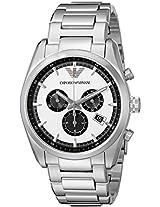 Emporio Armani Men's AR6007 Sportivo Analog Display Analog Quartz Silver Watch