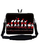 Meffort Inc 17 17.3 inch Laptop Sleeve Bag Carrying Case with Hidden Handle and Adjustable Shoulder Strap - Evolution Design