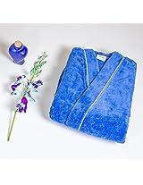 Denim Blue Denim Blue Enrobe Bathrobes Available For Men And Women (Uni-Sex) (Bathrobe (S))