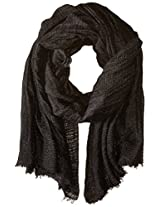 Betsey Johnson Women's Delicate Shimmer Day Wrap, Black, One Size