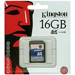 Kingston 16GB Class 4 Memory Card (SD4/16GB)