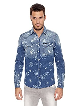Pepe Jeans London Camisa Hombre Shock (Azul Oscuro)