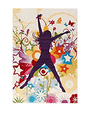 ABC Tappeti Alfombra Metropolitan Groove Beige/Multicolor 160 x 230 cm