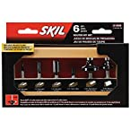 SKIL 91006 6-Piece Carbide Router Bit Set in Wooden Storage Case