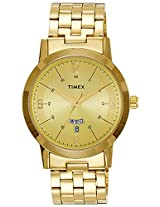 Timex Classics Analog Gold Dial Men's Watch - TI000T117