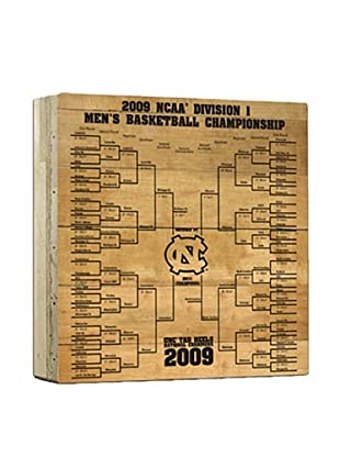 Steiner Sports Memorabilia North Carolina Actual Court Piece With 2009 Tournament Bracket