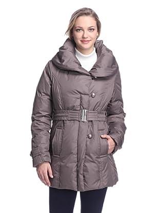 Ivanka Trump Women's Belted Puffer Coat (Taupe)