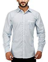 SPEAK Men's White Print Premium Cotton Casual Shirt