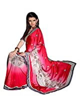 Texclusive Women'sGeorgette Saree With Blouse Piece