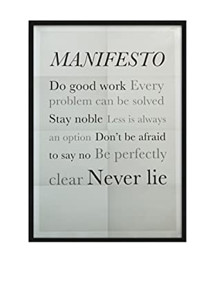 ReallyNiceThings Póster Enmarcado Manifesto