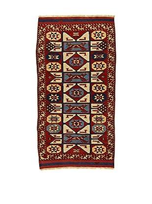 L'EDEN DEL TAPPETO Alfombra Konya Antik Rojo/Multicolor 104 x 181 cm