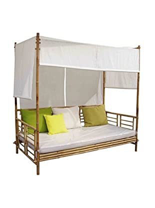 ZEW, Inc. Bamboo Daybed With Canopy, Natural