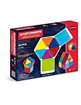 Magformers Standard Rainbow Opaque Solid Set (30-pieces)