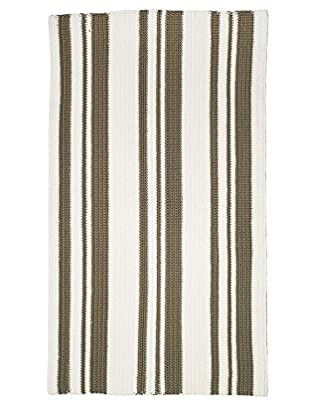 InterDesign Ellis Hand Knit Rug, Khaki/Ivory