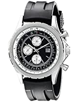 Akribos XXIV Men's AK532SSB Conqueror Swiss Multi-Function Rubber Strap Watch
