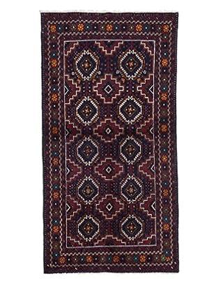 Darya Rugs Authentic Persian Tribal Rug, Red, 3' 5