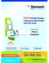 Nextech 4800mAh Portable Power Bank with LED Torch For All Smart Phones - PB405
