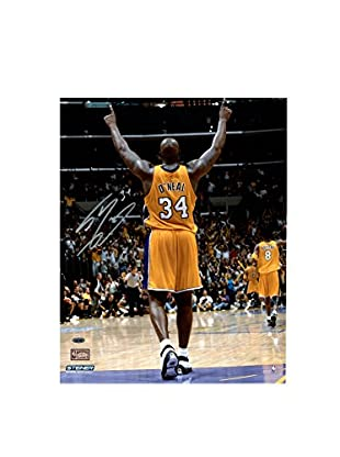 Steiner Sports Memorabilia Shaquille O'Neal Signed Arms Up In Gold Photo, 20