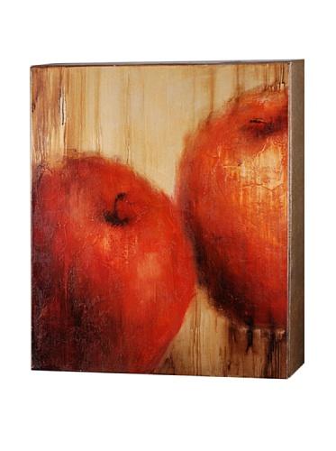 Les Pommes, Reds/Orange/Naturals, 30 x 30