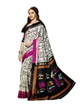 Bhavi Printed Minakari Silk Sari
